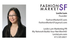 Fashion Market San Francisco Business Card Front