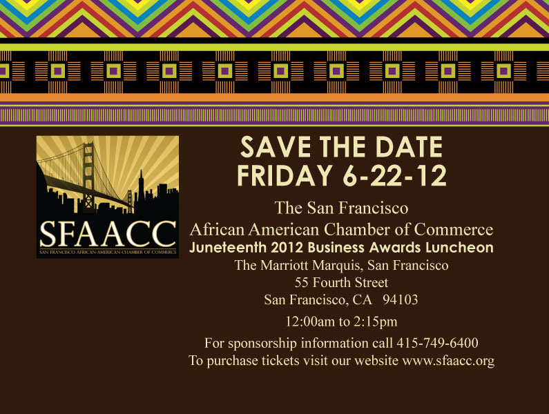 Juneteenth 2012 Save The Date Direct Mailer